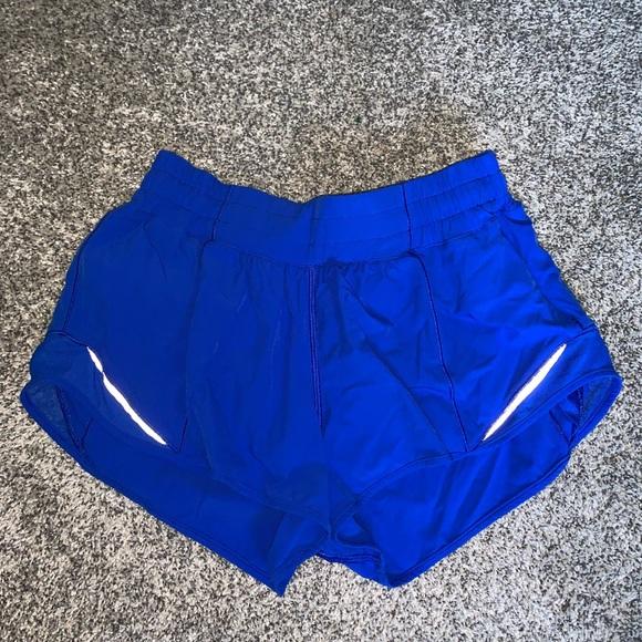 Royal blue lululemon shorts